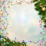 圣诞节defocused光 10 eps 免版税库存图片
