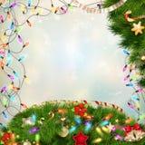圣诞节defocused光 10 eps 免版税图库摄影