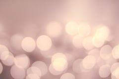 圣诞节Defocused金子Bokeh光葡萄酒背景 典雅 免版税库存照片