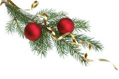 圣诞节dekoration结构树 免版税库存图片