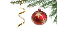 圣诞节dekoration结构树 免版税库存照片