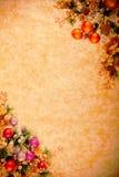 圣诞节desing的系列葡萄酒 免版税库存照片