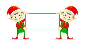 圣诞节elfs 库存图片