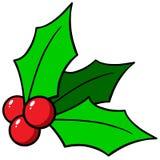 8圣诞节eps在向量白色的霍莉例证 库存照片