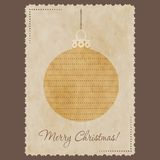 圣诞节eps10例证明信片向量 库存照片
