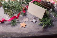 圣诞节eps10例证明信片向量 图库摄影