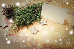 圣诞节eps10例证明信片向量 免版税库存照片