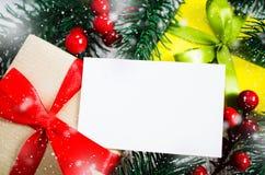 圣诞节eps10例证明信片向量 Xmas礼物 库存照片