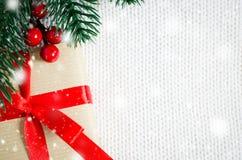 圣诞节eps10例证明信片向量 Xmas礼物 图库摄影