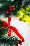 圣诞节eps10例证明信片向量 Xmas礼物 免版税图库摄影