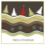 圣诞节geeting的卡片 免版税图库摄影