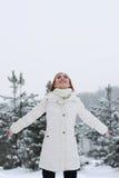 圣诞节Girl.Winter妇女 免版税库存照片