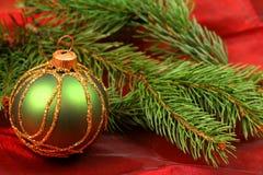 圣诞节greeen中看不中用的物品 图库摄影
