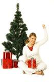 圣诞节gril 库存图片