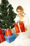 圣诞节gril 免版税库存照片