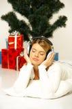 圣诞节gril 免版税图库摄影