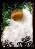 圣诞节grunge明信片 免版税库存图片