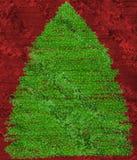 圣诞节grunge样式结构树 免版税库存图片