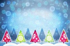 圣诞节grunge结构树 库存照片