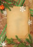 圣诞节grunge裱糊雪花结构树 免版税库存照片