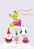 圣诞节indd快活唱歌 免版税图库摄影