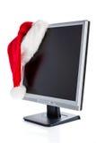 圣诞节lcd监控程序 库存照片