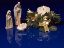 圣诞节Manger 库存图片