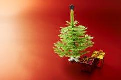 圣诞节miniatyre结构树 库存图片