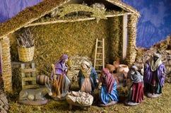 圣诞节Nativy场面 库存照片