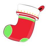 圣诞节nicknack袜子和树在Chistmas天 免版税库存图片