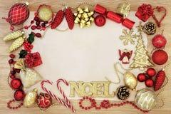 圣诞节Noel摘要边界 库存图片