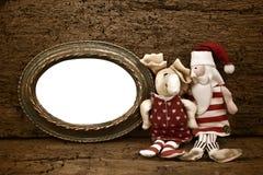 圣诞节Noel老框架卡片 免版税库存照片