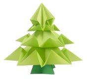 圣诞节origami结构树 免版税图库摄影