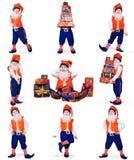 圣诞节prepearing礼品的地精 免版税库存图片