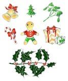 圣诞节s集合传统 库存图片