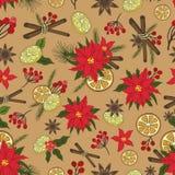 圣诞节samless样式集合 乱画新年度 库存例证