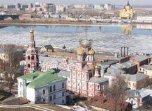 圣诞节Stroganov教会 免版税库存照片