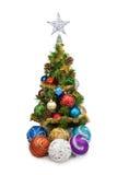 圣诞节tree&christmas球1 免版税库存照片