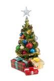 圣诞节tree&gift配件箱1 免版税库存照片