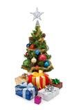 圣诞节tree&gift配件箱10 免版税图库摄影