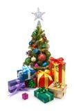 圣诞节tree&gift配件箱11 库存图片