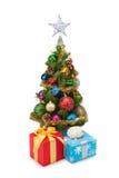 圣诞节tree&gift配件箱13 免版税库存照片