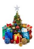 圣诞节tree&gift配件箱27 库存照片