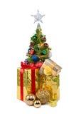 圣诞节tree&gift配件箱28 免版税图库摄影