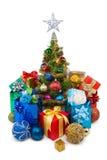 圣诞节tree&gift配件箱29 免版税库存照片