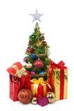 圣诞节tree&gift配件箱30 库存图片