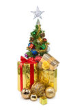 圣诞节tree&gift配件箱31 图库摄影