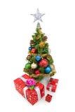 圣诞节tree&gift配件箱4 免版税库存照片