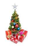 圣诞节tree&gift配件箱7 免版税图库摄影