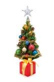 圣诞节tree&gift配件箱8 库存照片